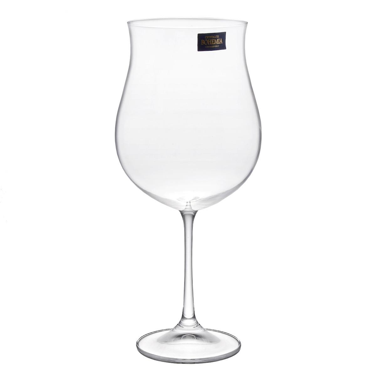 Набор из 6 бокалов для вина Crystalite Bohemia SAFIA, 640 мл набор бокалов для вина 150 мл bohemia