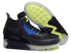Кроссовки Мужские Nike Air Max 90 Sneakerboot Black Blue Green