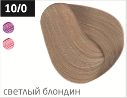 OLLIN N-JOY 10/0 – светлый блондин, перманентная крем-краска для волос 100мл