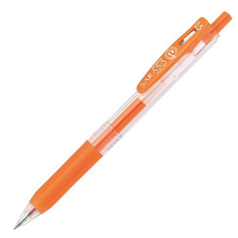Ручка гелевая Zebra Sarasa Clip Neon Colors (неоново-оранжевая 0,5 мм)