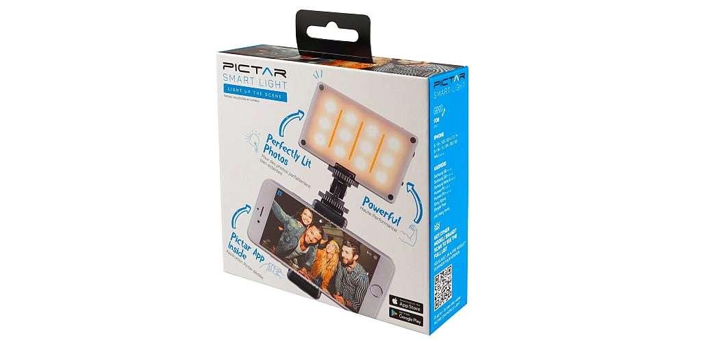 Осветитель светодиодный Pictar Smart Light с держателем для смартфона коробка