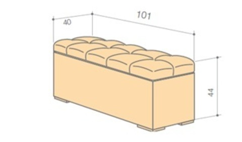 Банкетка Квадро 2 с ящиком