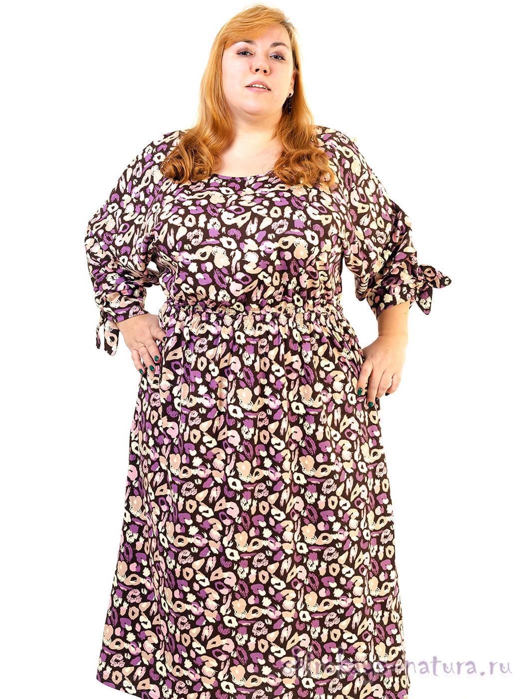 Платье из хлопка на лето на полную женщину