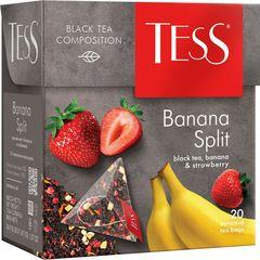 """Чай черный """"Tess"""" Banana split 20 пирамидок"""