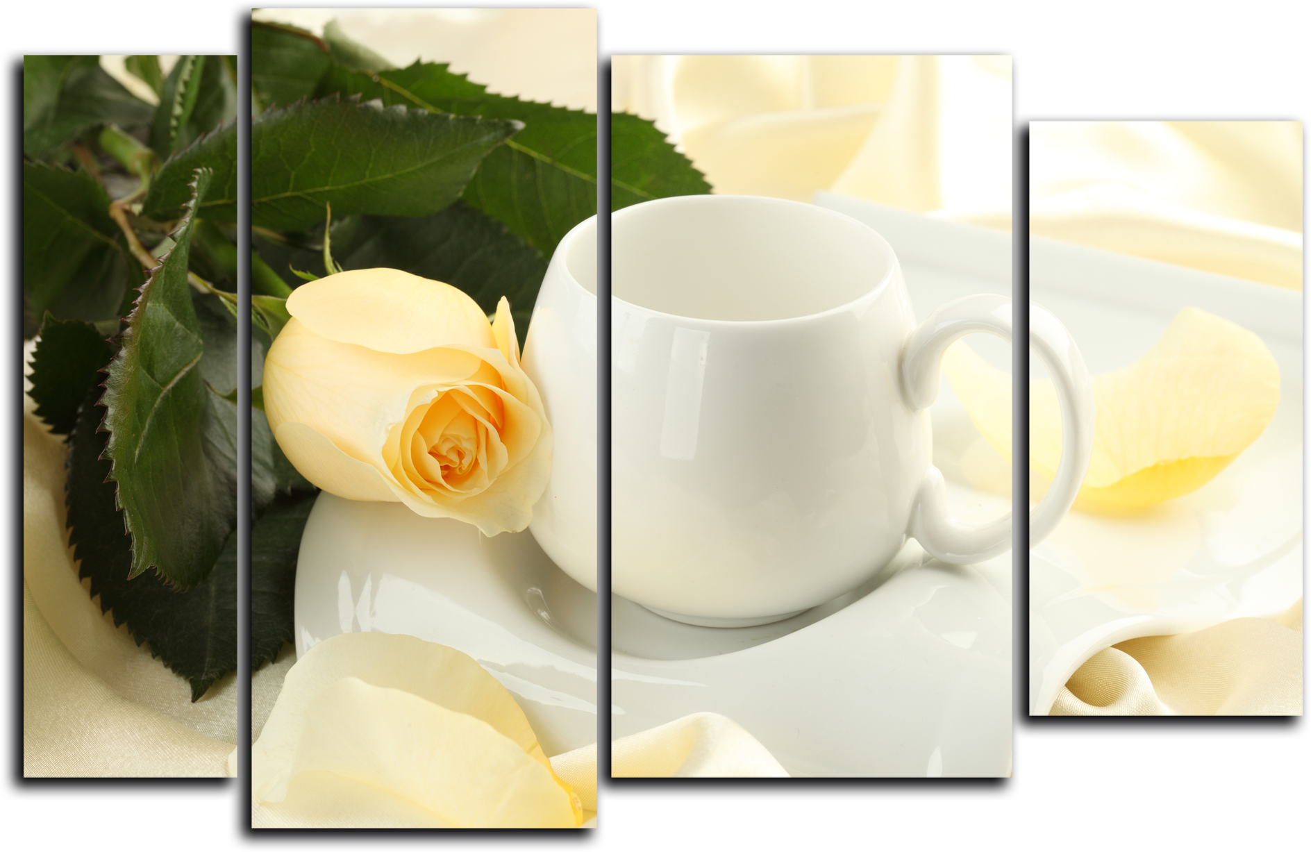 """Цветы Модульная картина """"Кремовые розы"""" М760.png"""