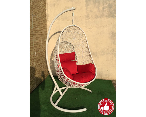 Подвесное кресло Изи белое