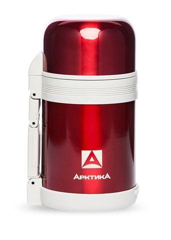 Термос универсальный для еды и напитков Арктика (202-800 красный) 0,8 литра с широким горлом, красный