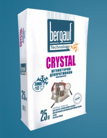Штукатурка декоративная Бергауф Crystal 25 кг