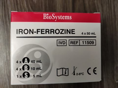 11509 ЖЕЛЕЗО 4х50 мл FERROZINE для А-25 /BioSystems/