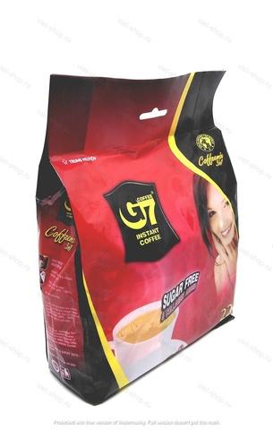 Вьетнамский растворимый кофе G7 Collagen and Sugar Free, 4 в 1 (без сахара), 352 гр, 22 пак.