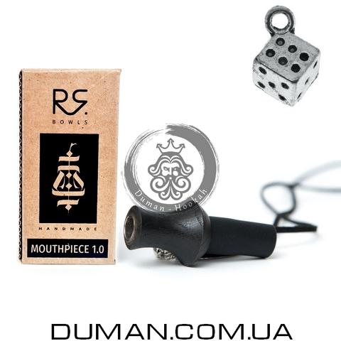 Персональный мундштук RS Bowls Black для кальяна |Кубик