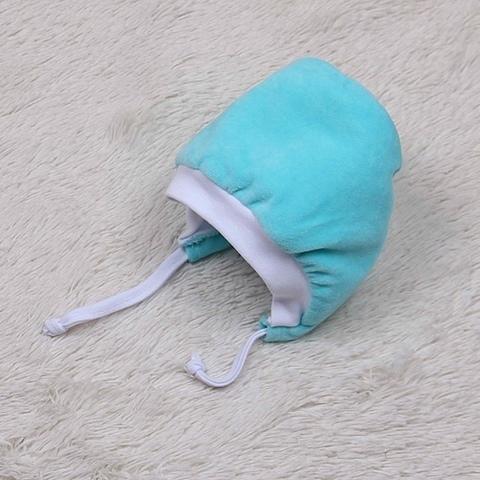 Велюровая шапка на махре Cool (бирюза)