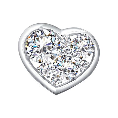 94030103- Кулон сердце с кристаллами SWAROVSKI от SOKOLOV