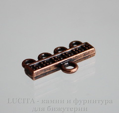 Коннектор (1-4) 21х12 мм (цвет - античная медь), пара