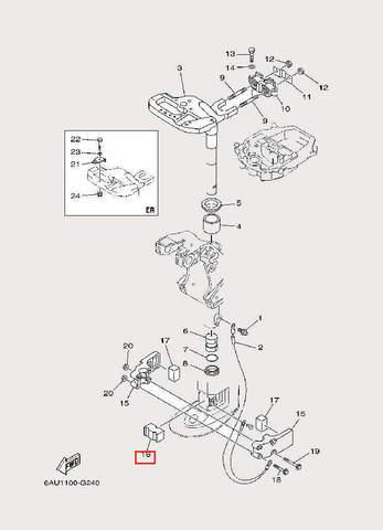 Демпфер для лодочного мотора F9,9 Sea-PRO (22-16)