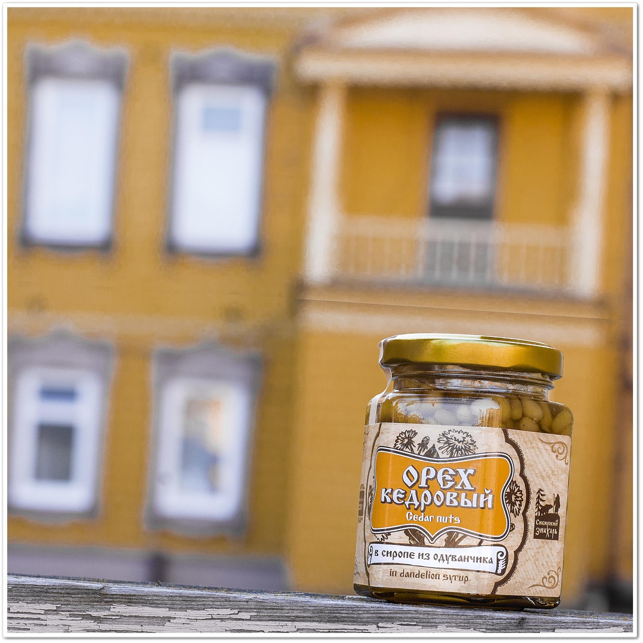 Ядро кедрового ореха в сиропе из одуванчика 220 грамм