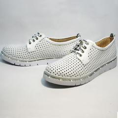 Белые туфли кроссовки. Женские сникерсы GUERO G177-63 White