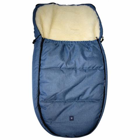 №S82 Спальный мешок в коляску exclusive (синий)