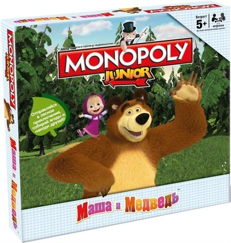 Настольная игра Монополия Junior. Маша и Медведь (Hasbro)