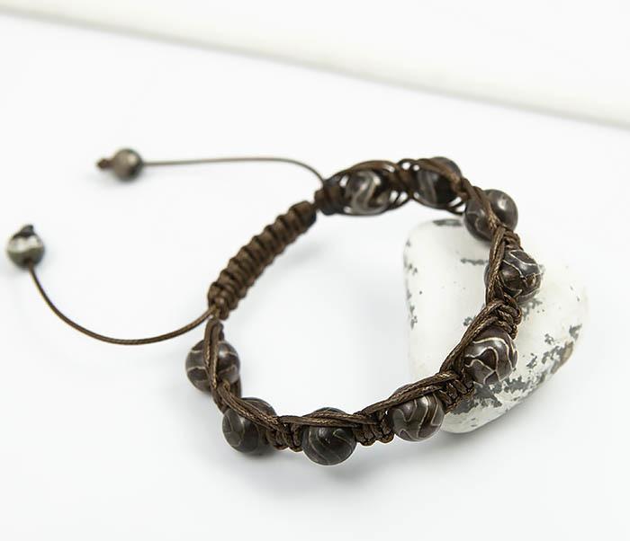 Boroda Design, Браслет шамбала из агата «Дзи» ручной работы