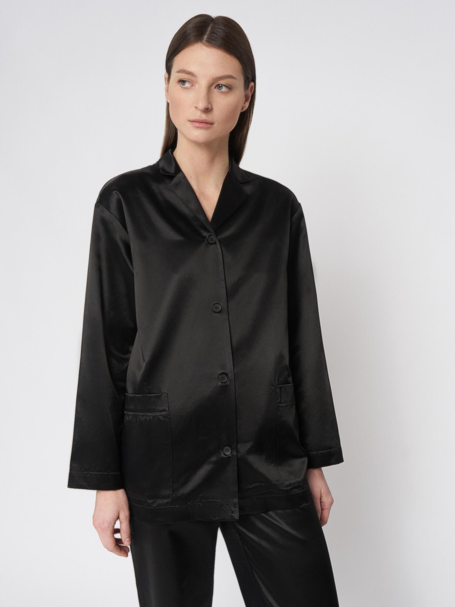 Блуза атласная Esme в пижамном стиле