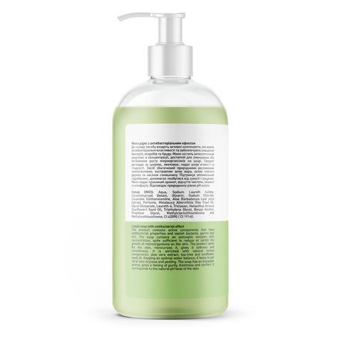 Жидкое мыло с антибактериальным эффектом Алое вера-Чайное дерево Touch Protect 500 мл (3)