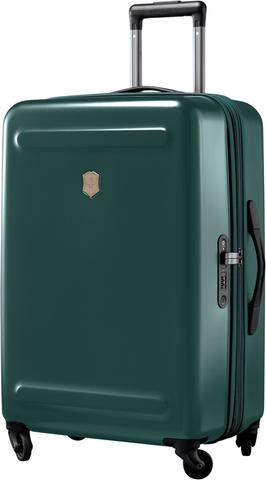 Чемодан Victorinox Etherius 17.1, с возможностью расширения на 4 см, зеленый, 45x30x67 см, 65 л
