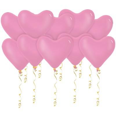 Сердца розовые