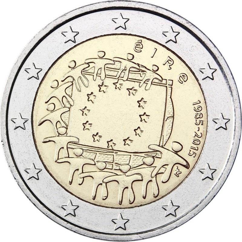 2 евро 2015 Ирландия - 30 лет флагу Европейского союза