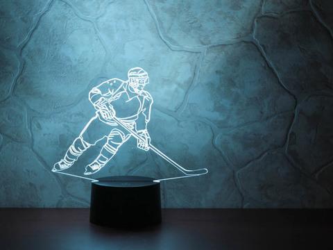 3D ночник Хоккеист - Нападающий