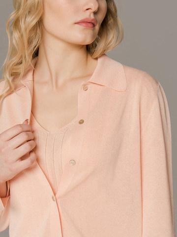 Женский джемпер персикового цвета на пуговицах - фото 4