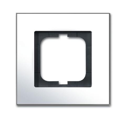 Рамка на 1 пост. Цвет Хром глянцевый. ABB(АББ). Carat(Карат). 1754-0-4360