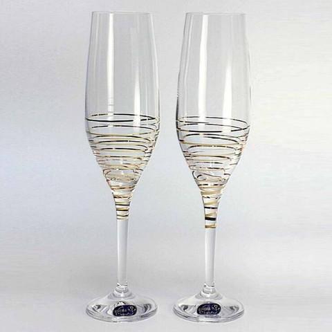 Набор бокалов для шампанского «Аморосо», 200 мл