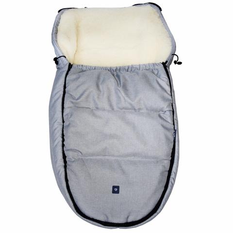 №S82 Спальный мешок в коляску exclusive (светло-серый)