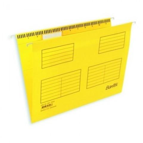 Подвесная регистратура папка BANTEX желтая размер Foolscap 25 шт. Дания 100