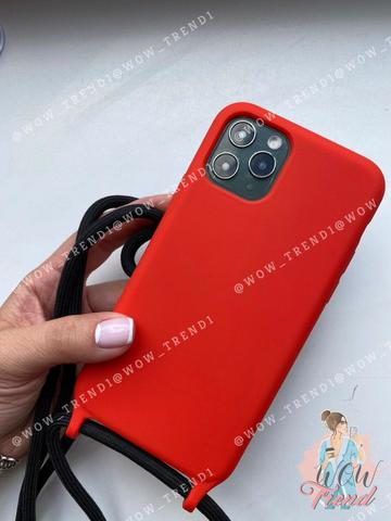 Чехол iPhone X/XS Silicone Case crossbody bag /red/