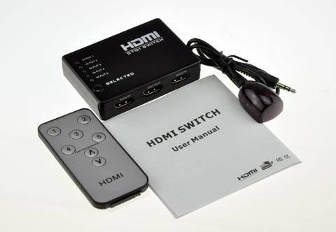 HDMI Switch 5x1 1080P (из 5-ти HDMI в 1 HDMI) + пульт