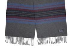 Шерстяной шарф полосатый серый 31041