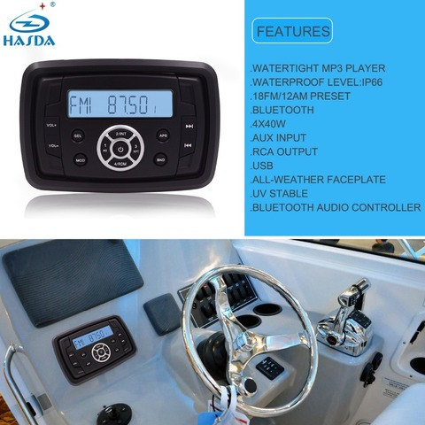 Hasda H-806 AM/FM/MP3/USB/RCA приемник с Bluetooth, 40 Вт х4