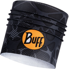 Широкая спортивная повязка на голову Buff Headband Wide CoolNet Ape-x Black