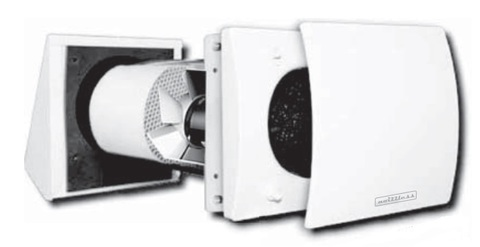 RX 100 RLS  TC100 Децентрализованная приточно-вытяжная установка с регенерацией тепла и влаги