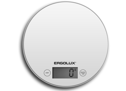 Весы кухонные Ergolux ELX-SK03-С01 белый
