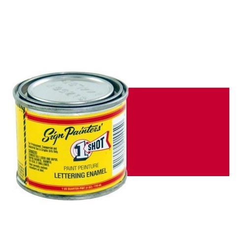 Пинстрайпинг (pinstriping) 904-P Эмаль для пинстрайпинга 1 Shot Перламутровый Ярко-красный (Bright Red), 236 мл BrightRed.jpg