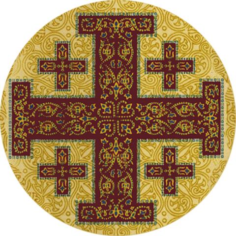 """Значок закатной """"Иерусалимский крест"""" (2)"""