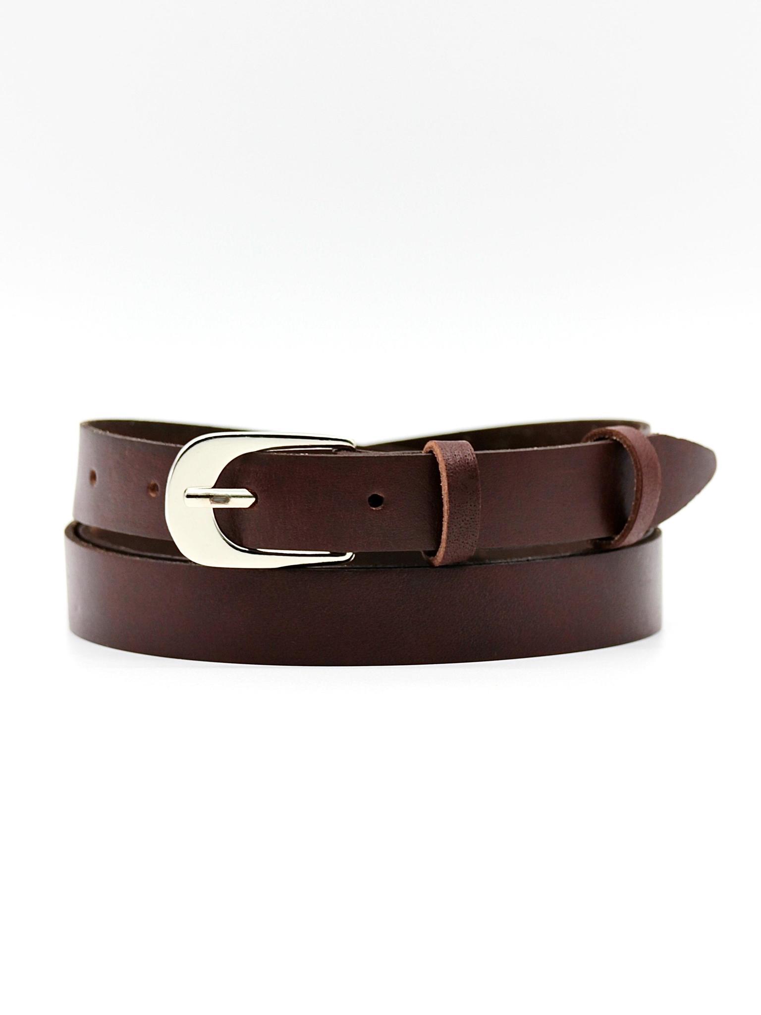 Женский кожаный тёмно-коричневый ремень 20 мм Coscet WW20-1-5