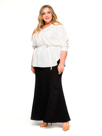 Длинная юбка-годе чёрная
