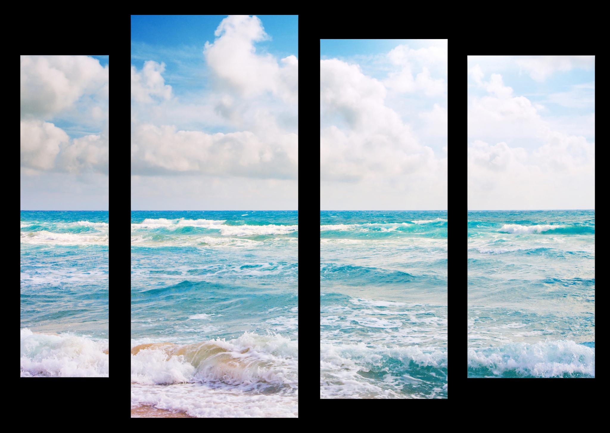 """Природа Модульная картина """"Сила океана"""" М1041_M_загибы_100х79.png"""