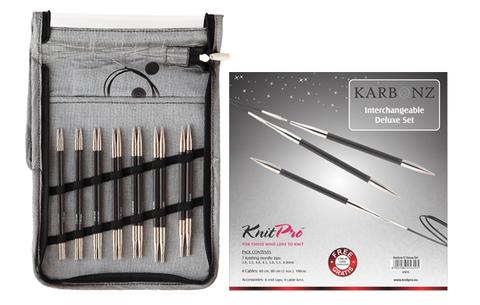 KnitPro Набор спиц под тросик Karbonz Deluxe