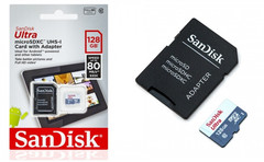 Карта памяти SanDisk Ultra microSDHC UHS-I 128GB Class10 80MB/s