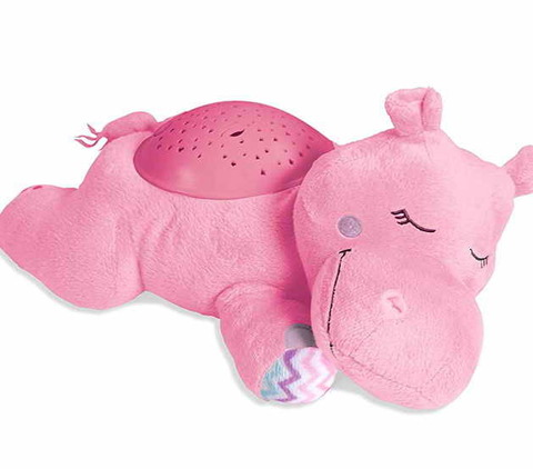 Ночник-проектор звездного неба Hippo розовый